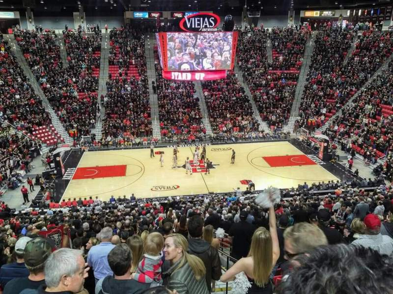 Viejas Arena, section: Q, row: 33, seat: 2