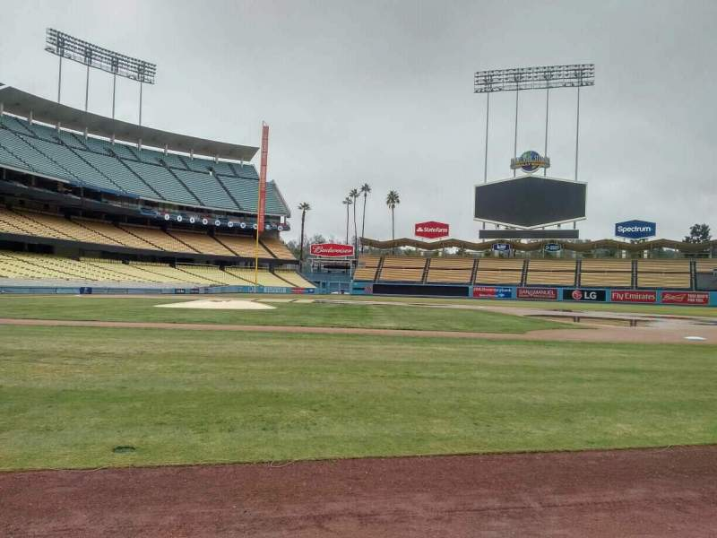 Seating view for Dodger Stadium Section Dugout