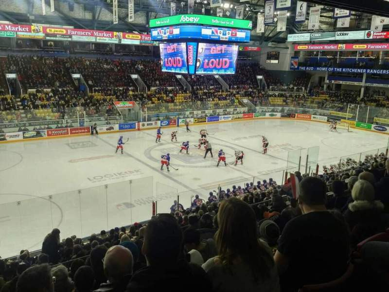 Seating view for Kitchener Memorial Auditorium Section 9 Row Q Seat 5