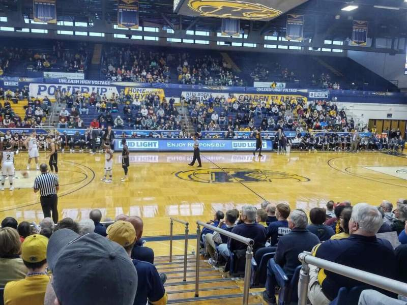 Seating view for Memorial Athletic and Convocation Center Section B Row J Seat 40