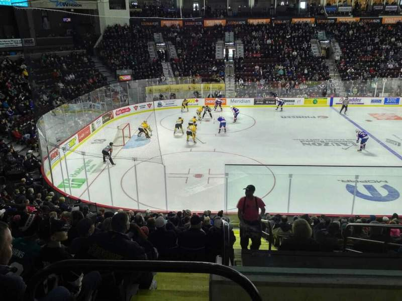 Seating view for WFCU Centre Section 118 Row P Seat 1