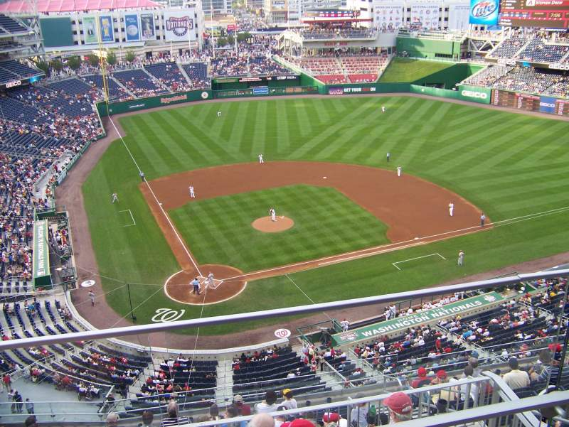 Seating view for Nationals Park Section 316 Row A Seat 9
