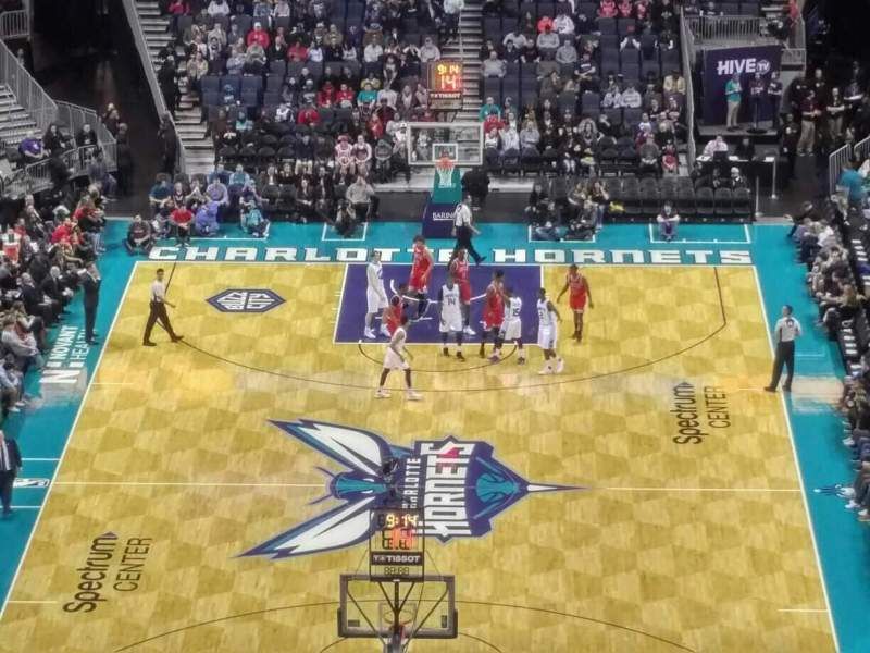 Seating view for Spectrum Center Section 233 Row J Seat 21