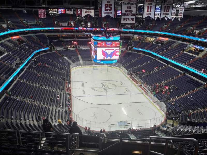 Seating view for Verizon Center Section 424 Row M Seat 20