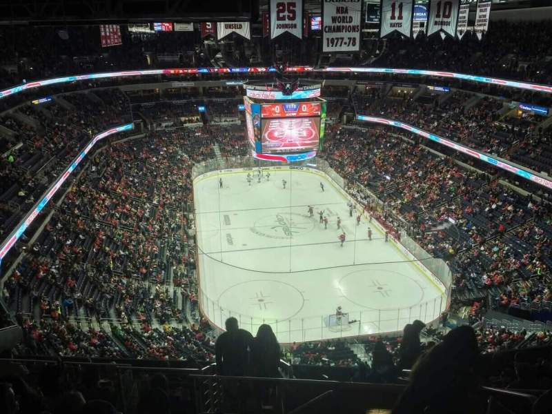 Seating view for Capital One Arena Section 424 Row M Seat 20