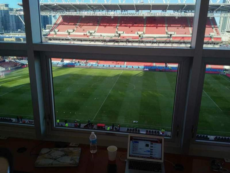 Seating view for BMO Field Section Press Box