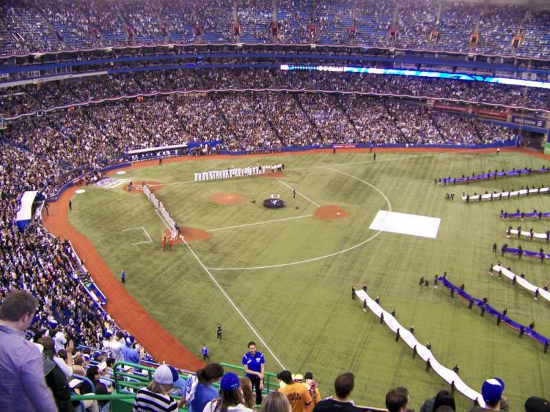 Seating view for Rogers Centre Section 511R Row 16 Seat 1