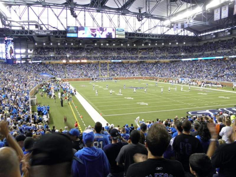 Ford Field, section: 114, row: 23, seat: 8