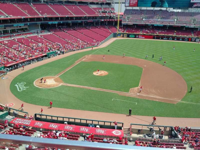 Seating view for Great American Ball Park Section 430 Row A Seat 3