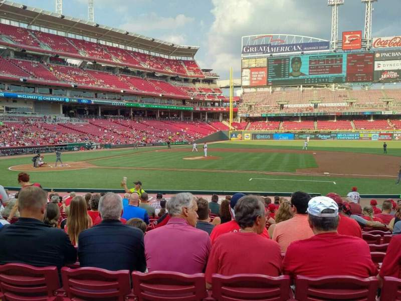 Seating view for Great American Ball Park Section 130 Row T Seat 11