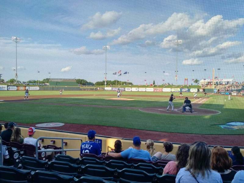 Seating view for Werner Park Section 115 Row 8 Seat 5