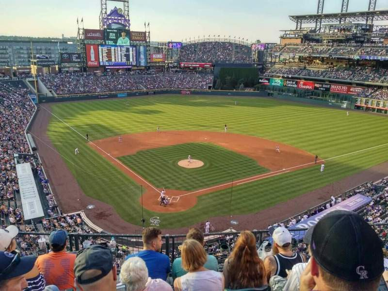 Seating view for Coors Field Section 329 Row 5 Seat 8