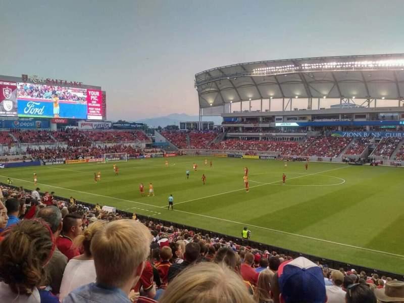 Seating view for Rio Tinto Stadium Section 36 Row Z Seat 5