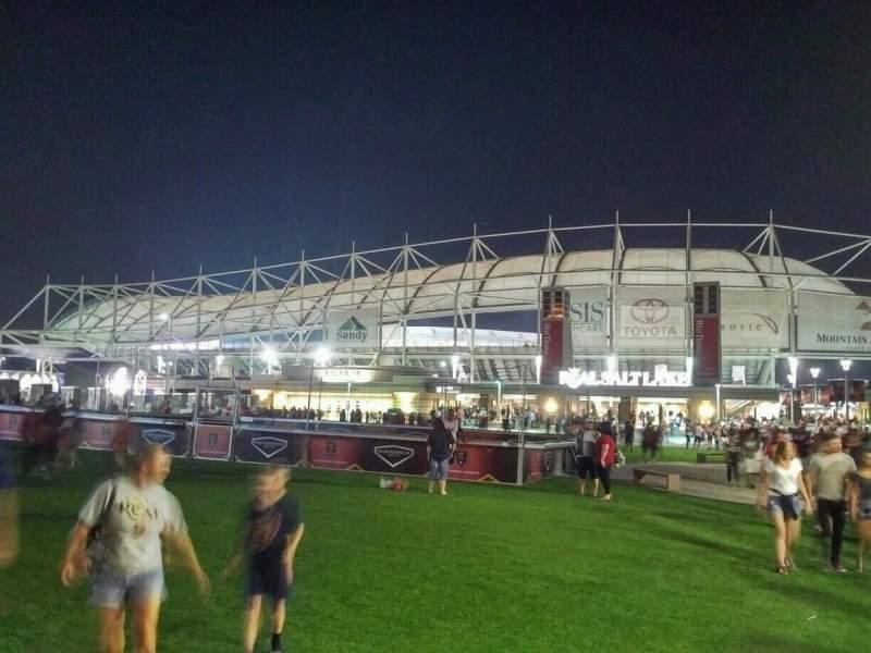 Seating view for Rio Tinto Stadium Section exterior