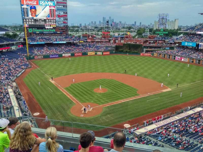Seating view for Citizens Bank Park Section 319 Row 5 Seat 18