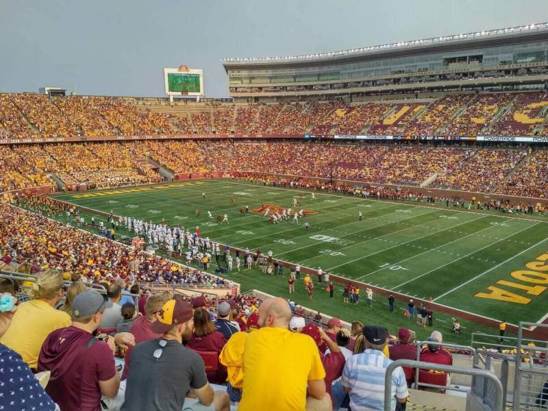 TCF Bank Stadium, section: 205, row: 11, seat: 2