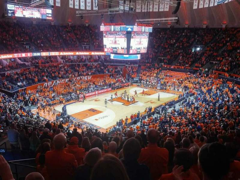 Seating view for State Farm Center Section 208 Row 9 Seat 4