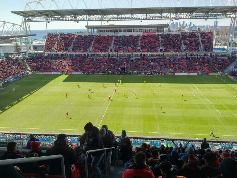 Seating view for BMO Field Section 206 Row 18 Seat 30
