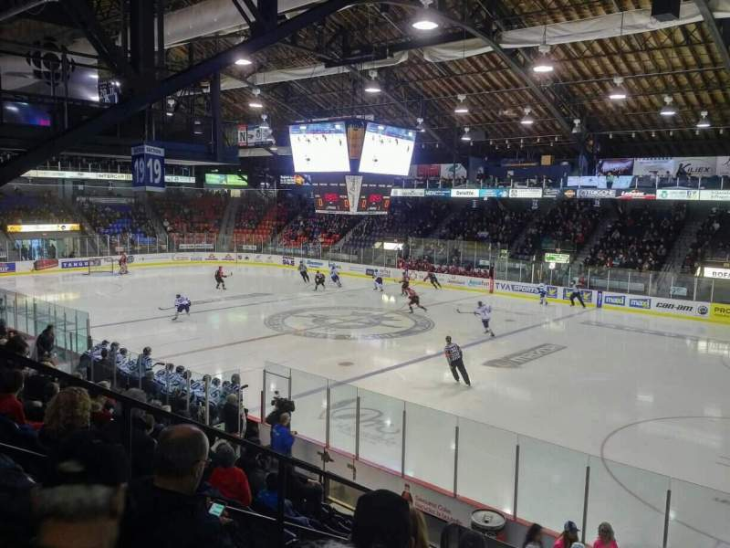 Seating view for Centre Georges-Vézina Section 21 Row K Seat 10