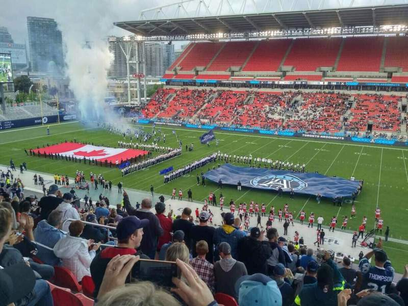 Seating view for BMO Field Section 221 Row 16 Seat 20