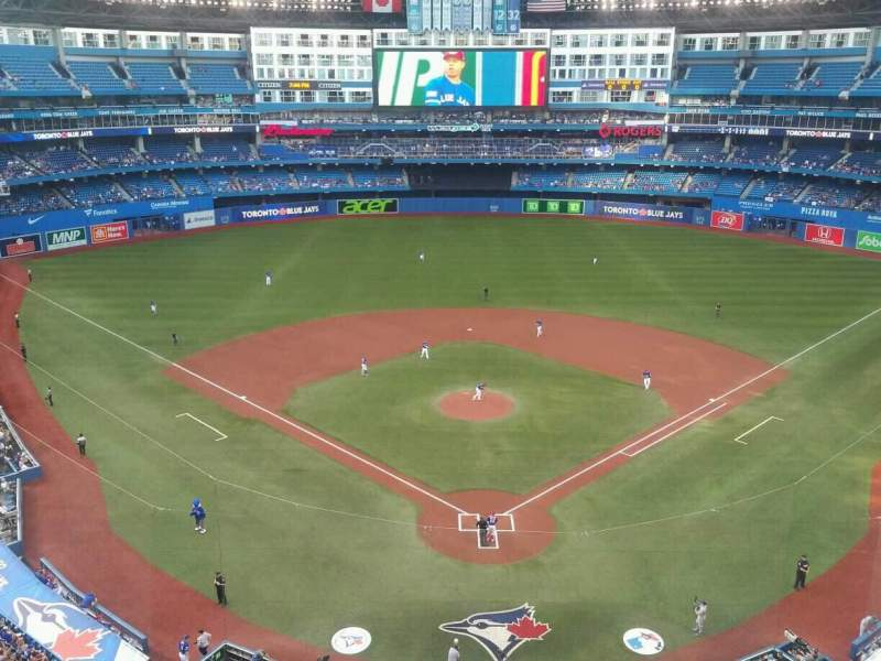 Seating view for Rogers Centre Section 524BR Row 1 Seat 5