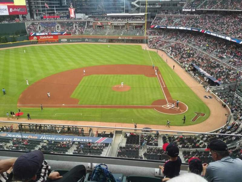 Seating view for SunTrust Park Section 330 Row 4 Seat 13