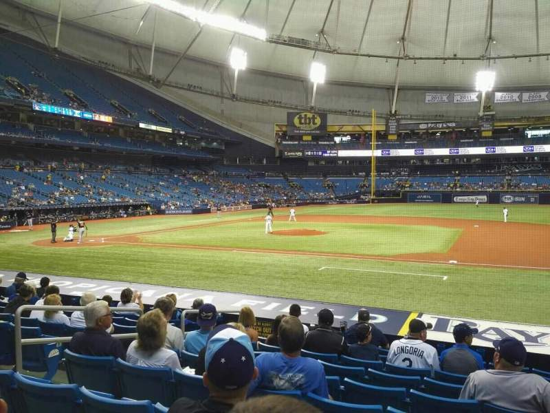 Seating view for Tropicana Field Section 118 Row U Seat 7