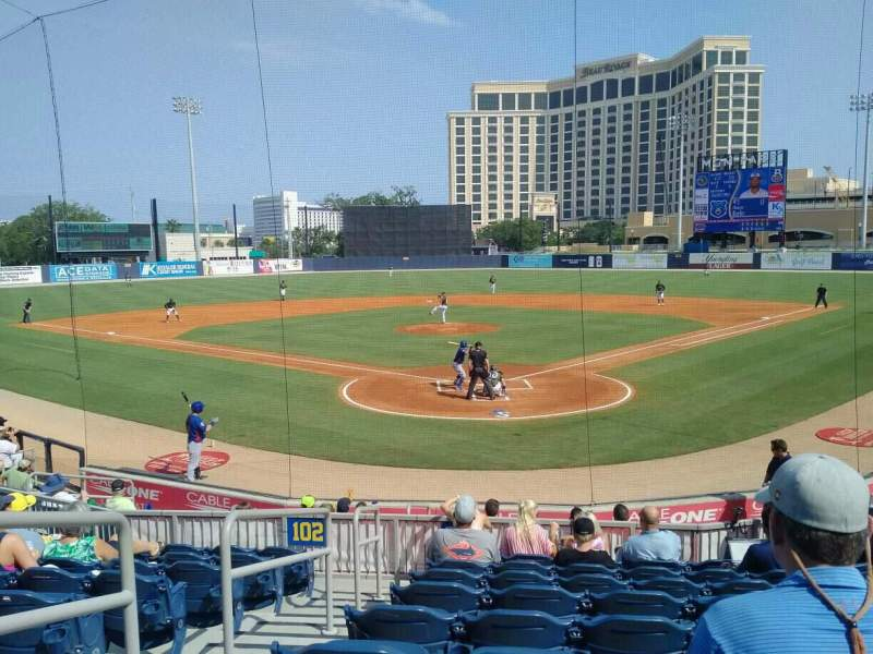 Seating view for MGM Park Section 100 Row N Seat 14