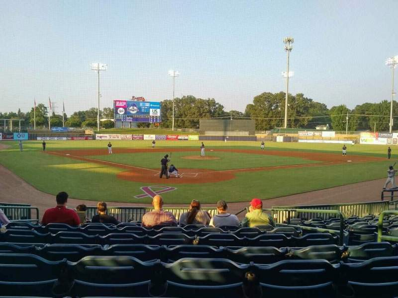 Seating view for Trustmark Park Section 111 Row P Seat 9