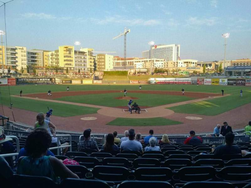 Seating view for Regions Field Section 108 Row S Seat 14