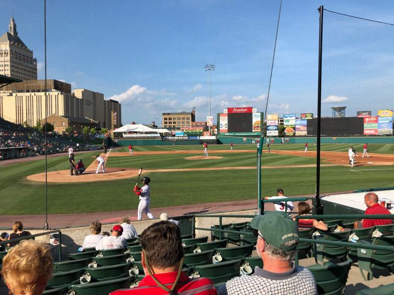 Seating view for Frontier Field Section 111 Row K Seat 3