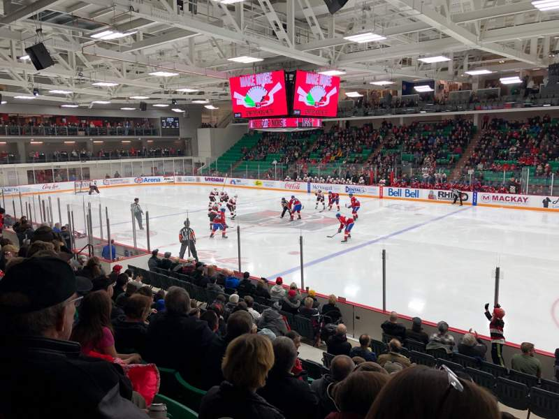 Seating view for CAA Arena Section 106 Row 12 Seat 8