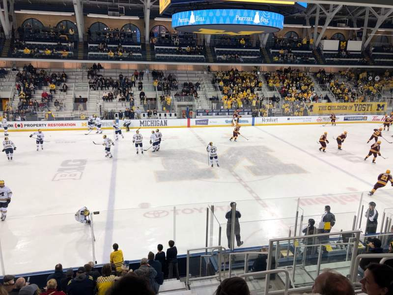 Seating view for Yost Ice Arena Section 3 Row 15 Seat 5