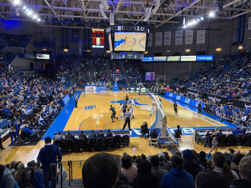 Seating view for Alumni Arena (University at Buffalo) Section 119 Row O Seat 8