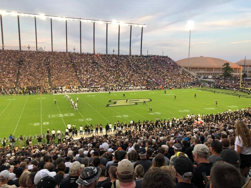 Seating view for Ross-Ade Stadium Section 123 Row 48 Seat 5