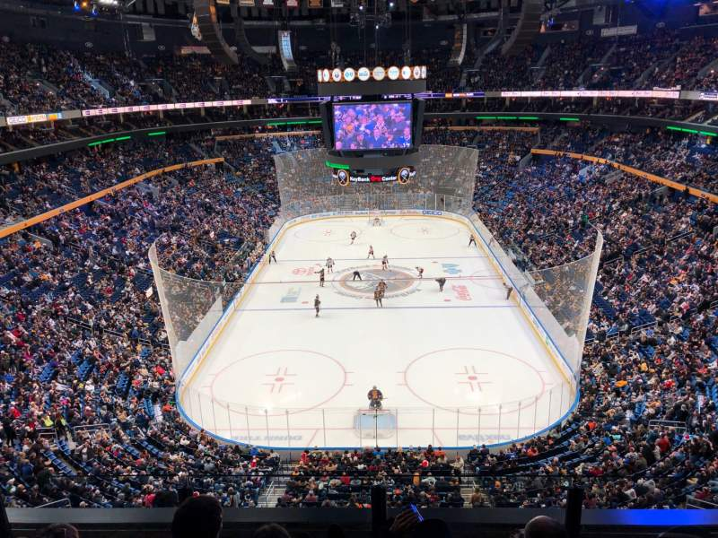 Seating view for KeyBank Center Section 327 Row 4 Seat 7