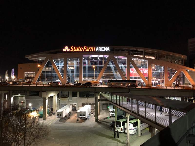 Seating view for State Farm Arena Section Exterior