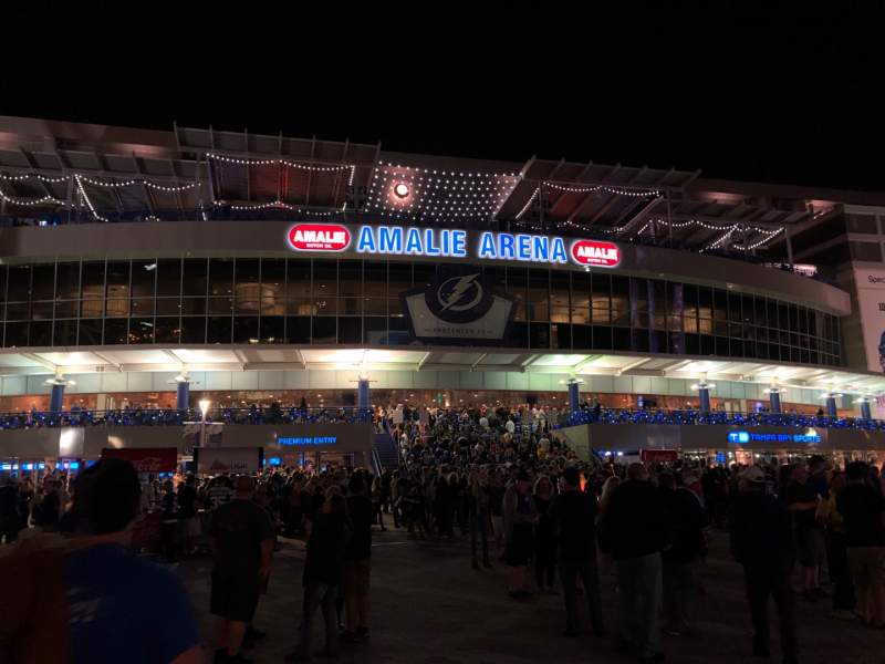 Seating view for Amalie Arena Section Exterior