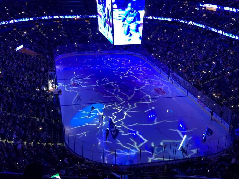 Seating view for Amalie Arena Section 325 Row J Seat 4