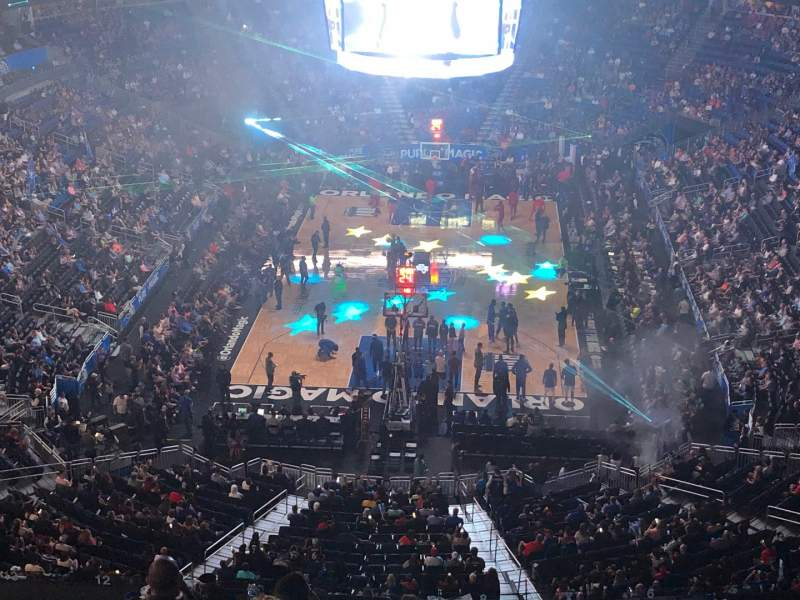 Seating view for Amway Center Section 217 Row 5 Seat 4