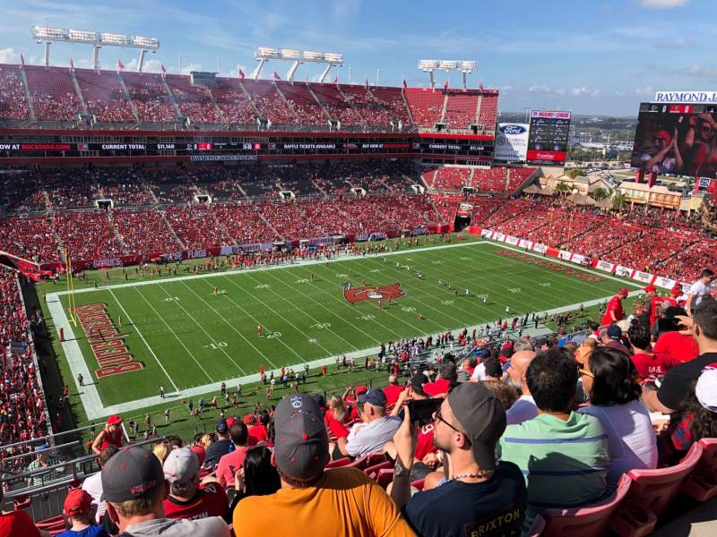 Seating view for Raymond James Stadium Section 331 Row N Seat 1