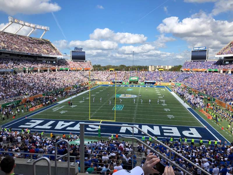 Seating view for Camping World Stadium Section P20 Row E Seat 27