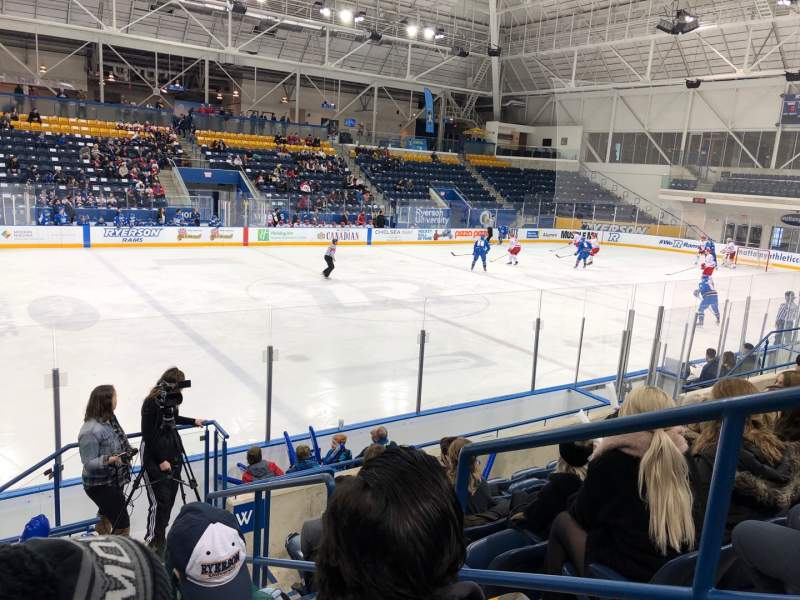 Seating view for Mattamy Athletic Centre at the Gardens Section W6 Row G Seat 2