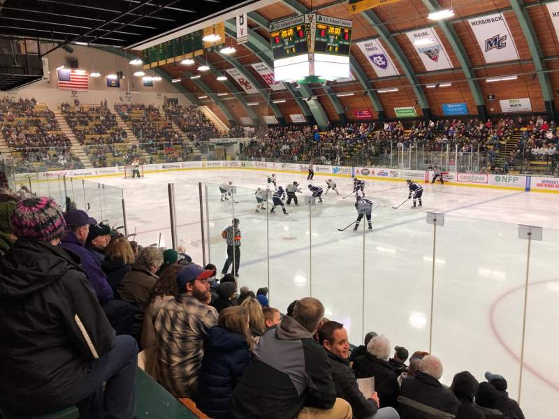 Seating view for Gutterson Fieldhouse Section 16 Row J Seat 12