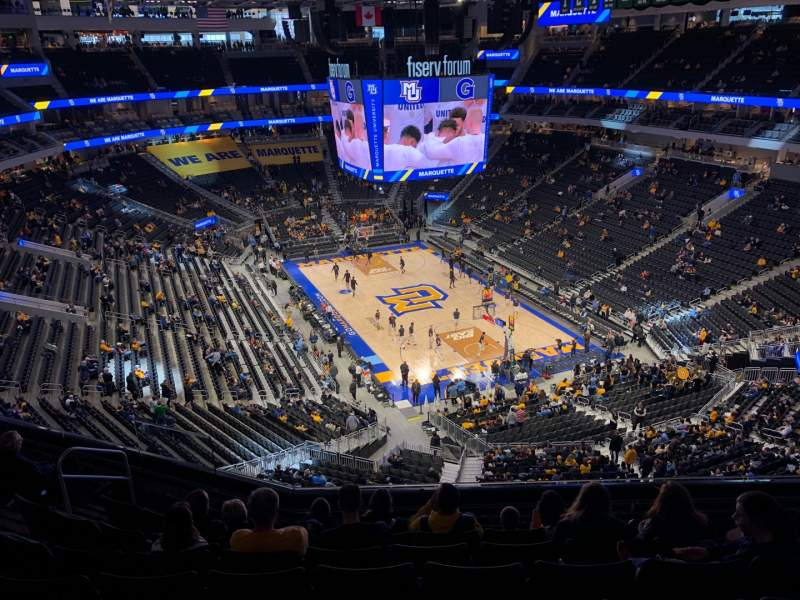 Seating view for Fiserv Forum Section 217 Row 9 Seat 14