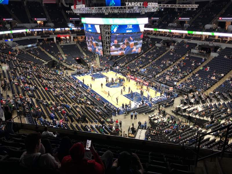 Seating view for Target Center Section 205 Row K Seat 3