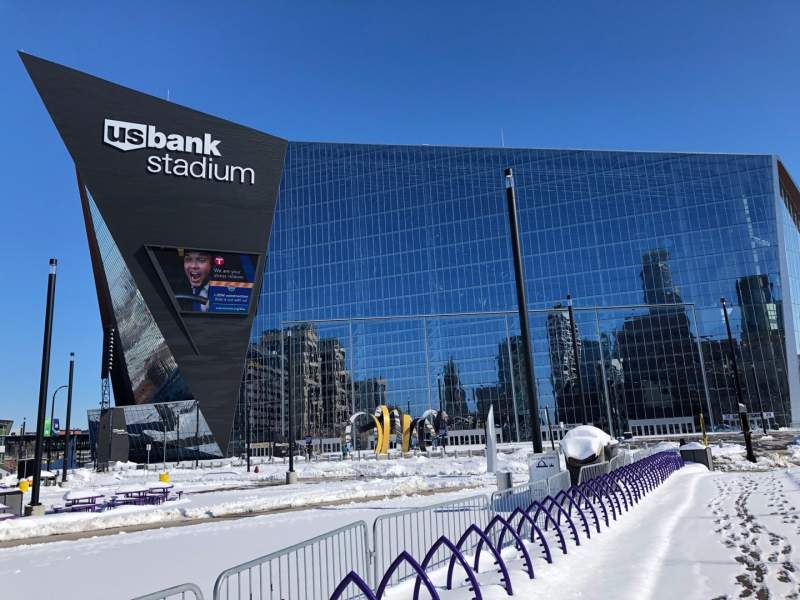Seating view for U.S. Bank Stadium Section Exterior
