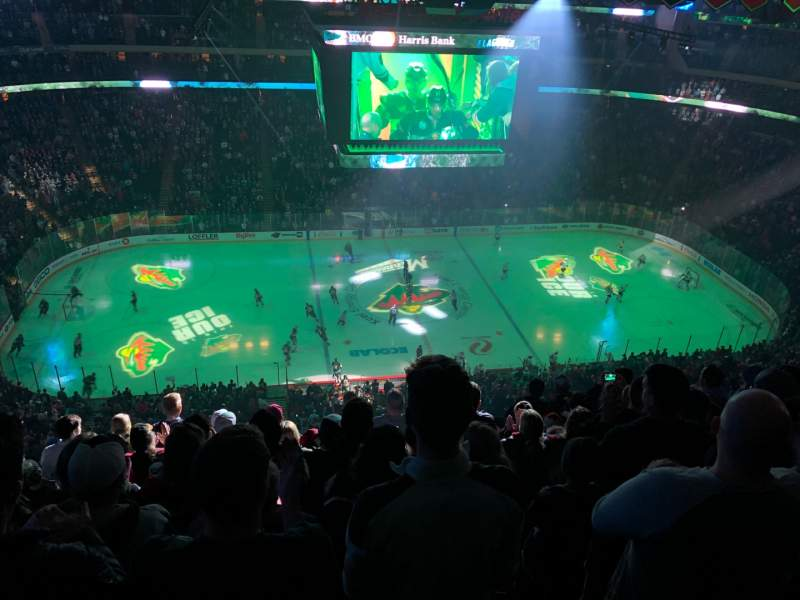 Seating view for Xcel Energy Center Section 220 Row 9 Seat 11