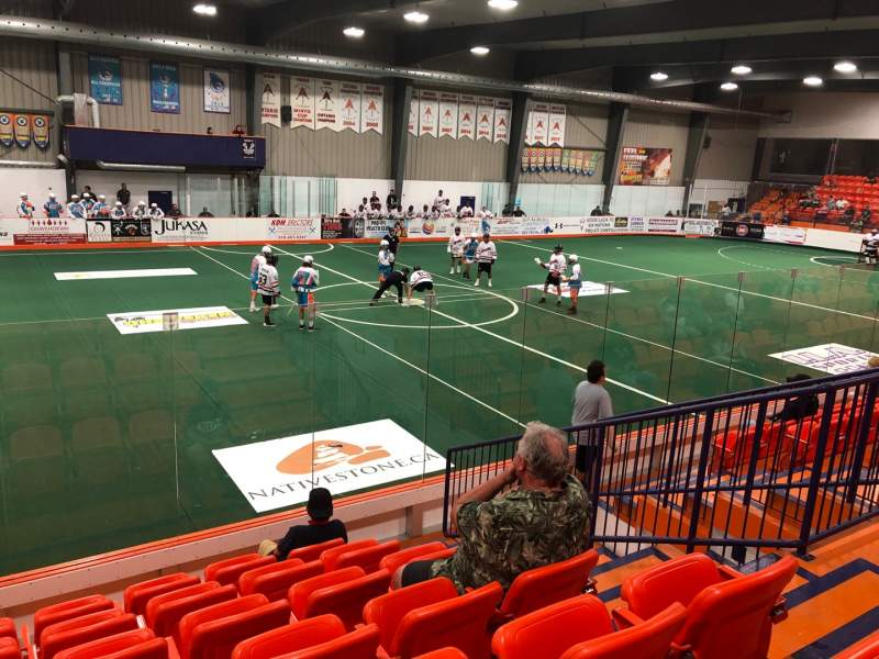 Seating view for Iroquois Lacrosse Arena Section I Row G Seat 5