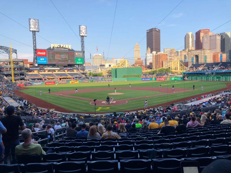 Seating view for PNC Park Section 115 Row U Seat 25